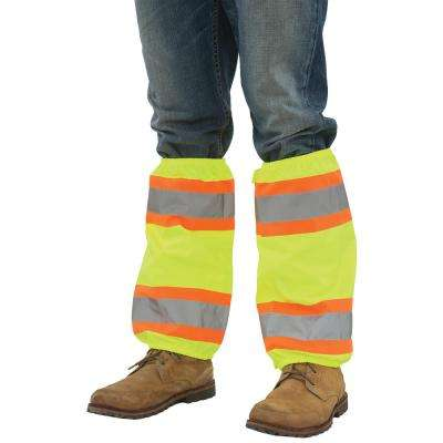S487 Hi Viz Lime with Contrasting Trim Leg Gaiters