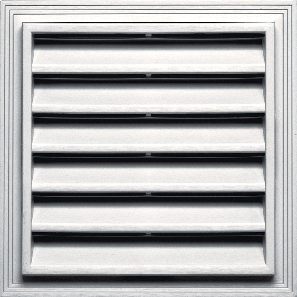 12 in. x 12 in. Square Gable Vent in Bright White
