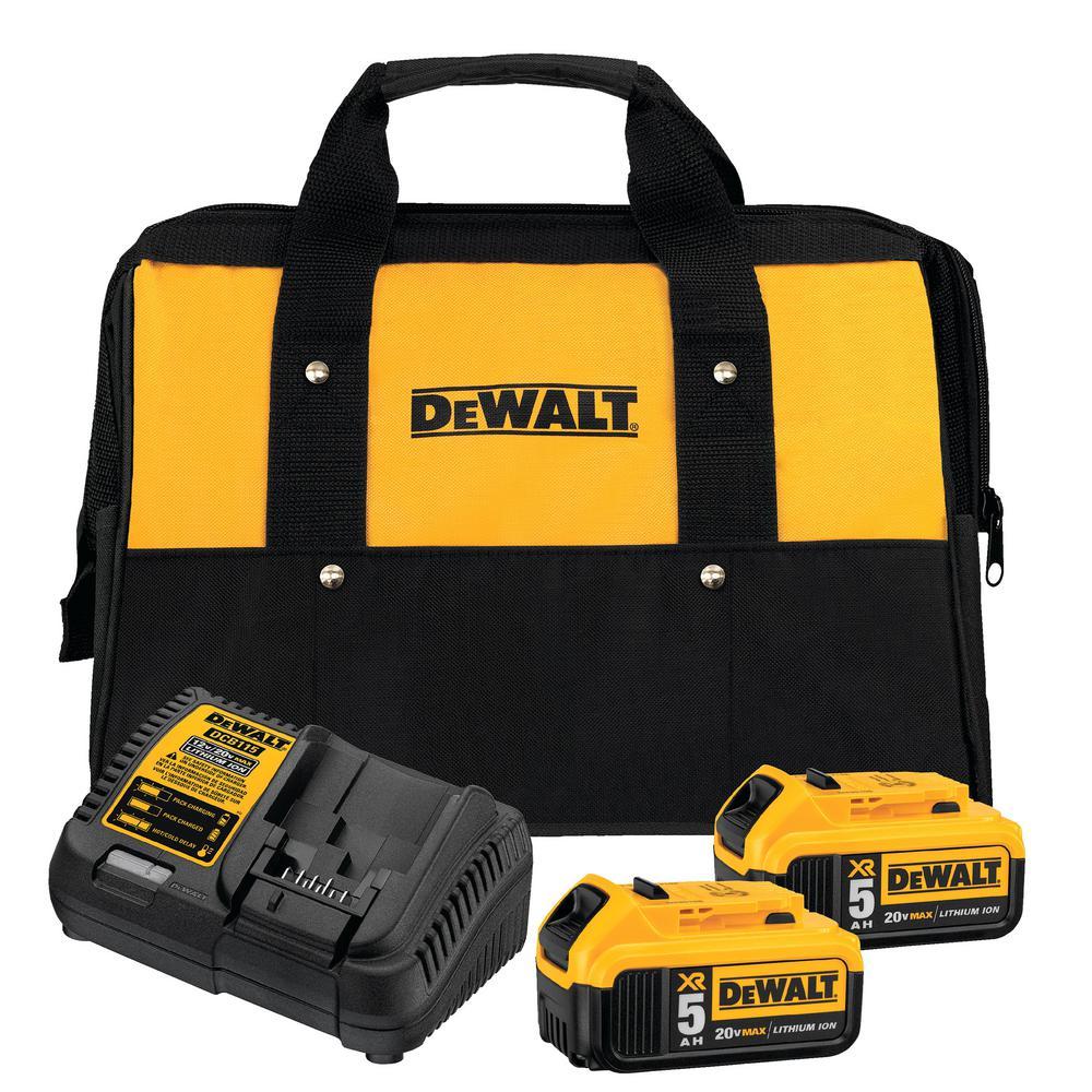 DeWALT Compact Hammer Drill/Driver Starter Kit with 2 Batteries