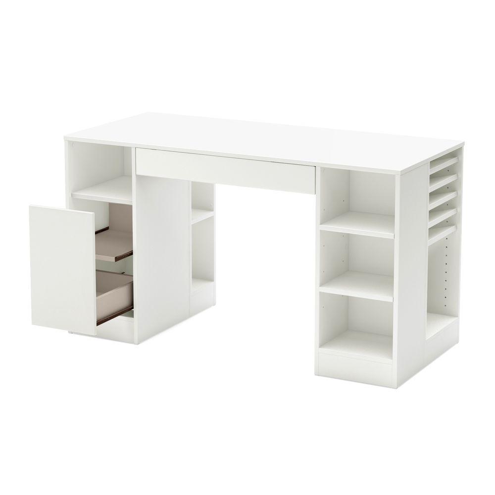 South Shore Crea Desk in Pure White 7550727