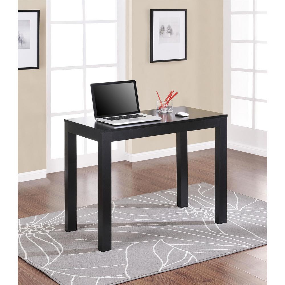 parsons black desk