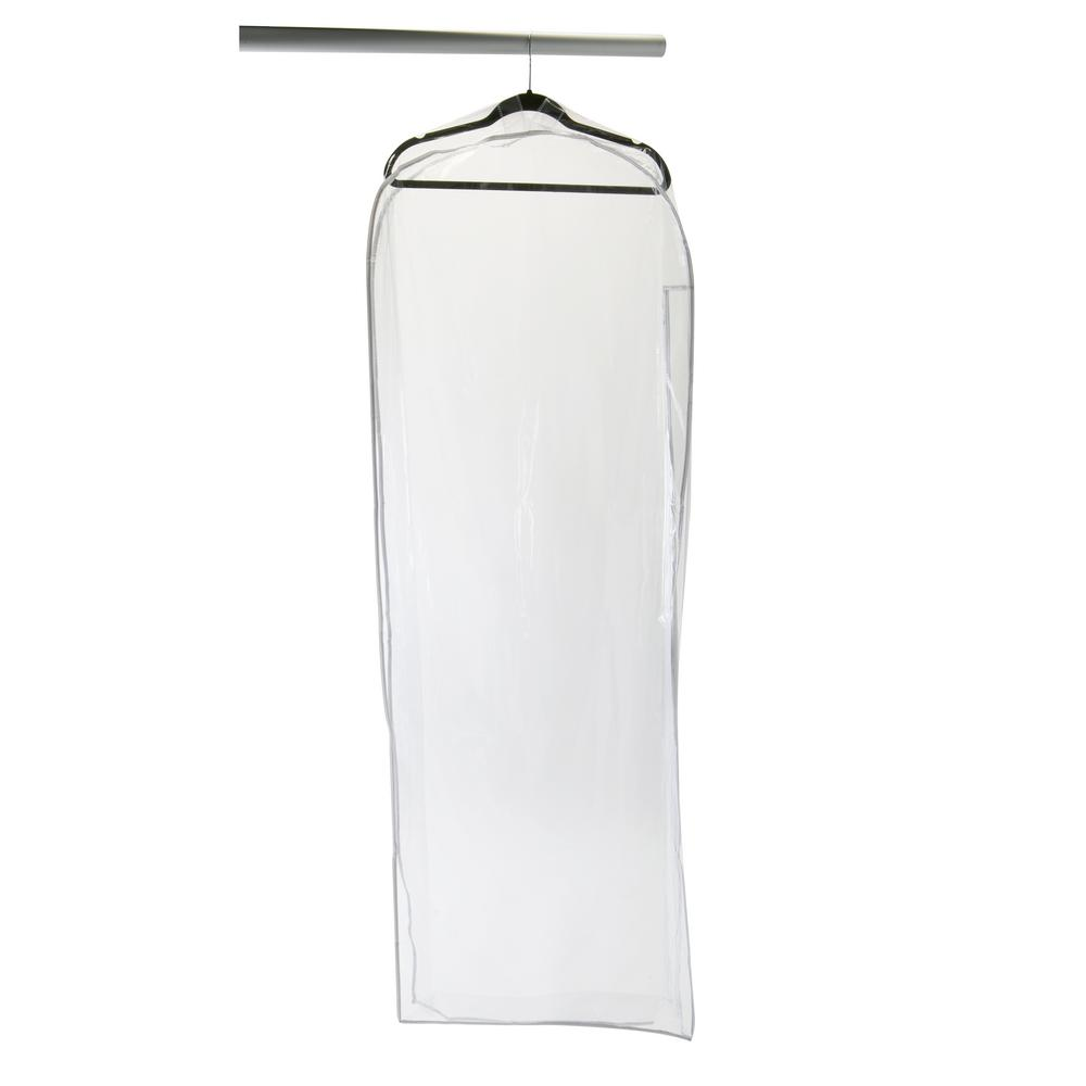Simplify 22 in. x 5 in. x 64 in. Garment Crystal Clear Gown Bag ...