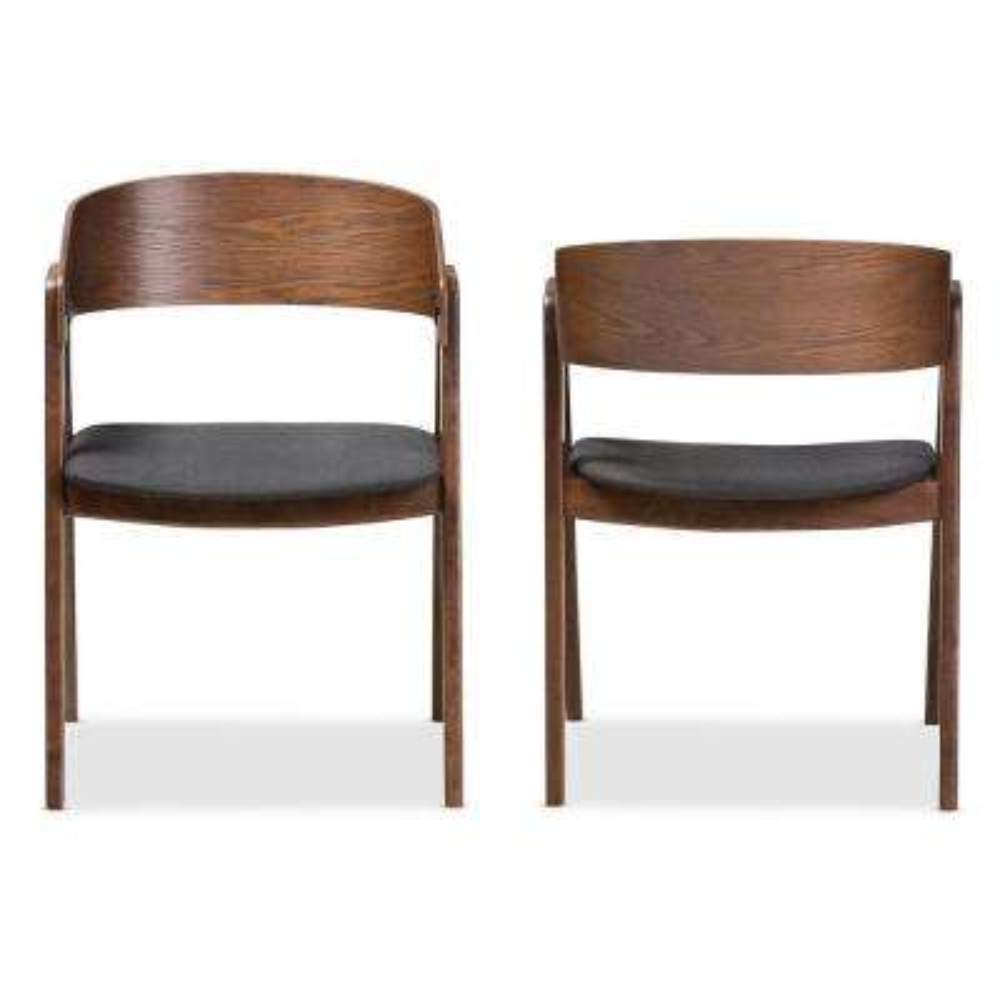 Tatum Dark Grey Fabric Dining Chair (Set of 2)