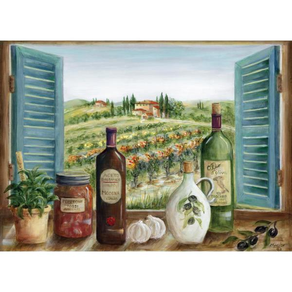 MHF Home Olive Oil and Herb Multi-Colored 18 in. W x 13 in. L Polypropylene Placemat Set (4-Pack)
