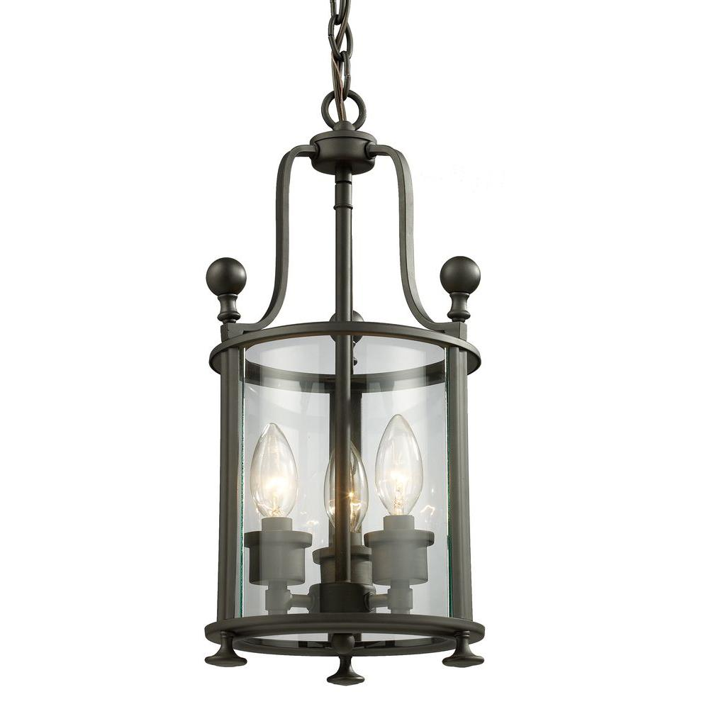 Lawrence 3-Light Bronze Incandescent Ceiling Pendant