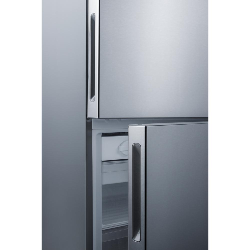 28 in. 14.8 cu. ft. Bottom Freezer Refrigerator in Stainless Steel, Counter Depth