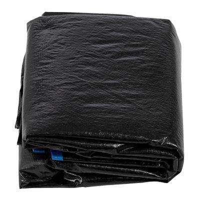 15 ft. Black Trampoline Protection Cover Weather and Rain Cover Fits for 15 ft. Round Trampoline Frames