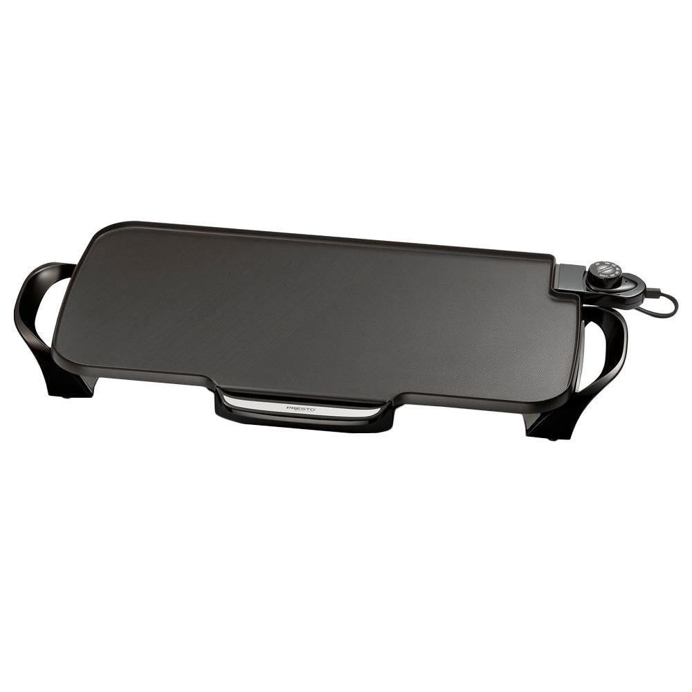 231 sq. in. Black Non-Stick Electric Griddle