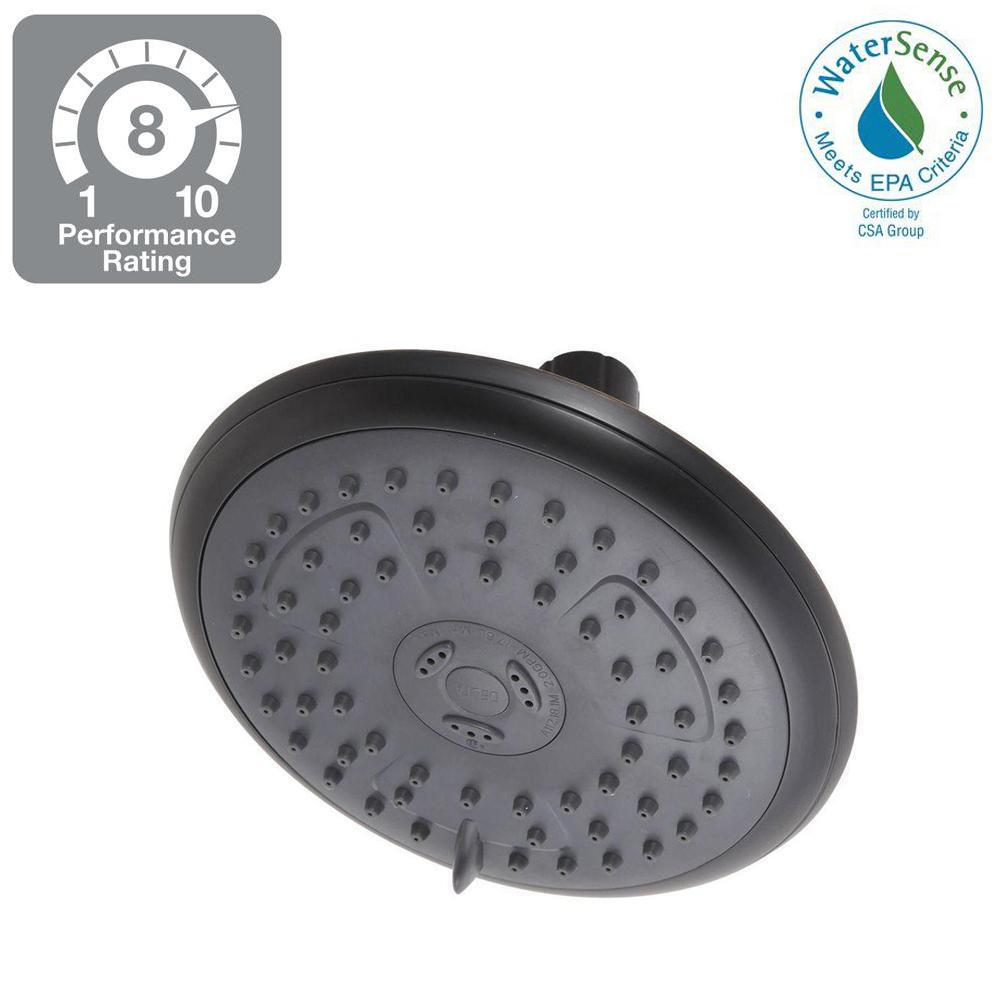 Delta Delta Porter 3-Spray 6 in. Fixed Shower Head in SpotShield Oil Rubbed Bronze