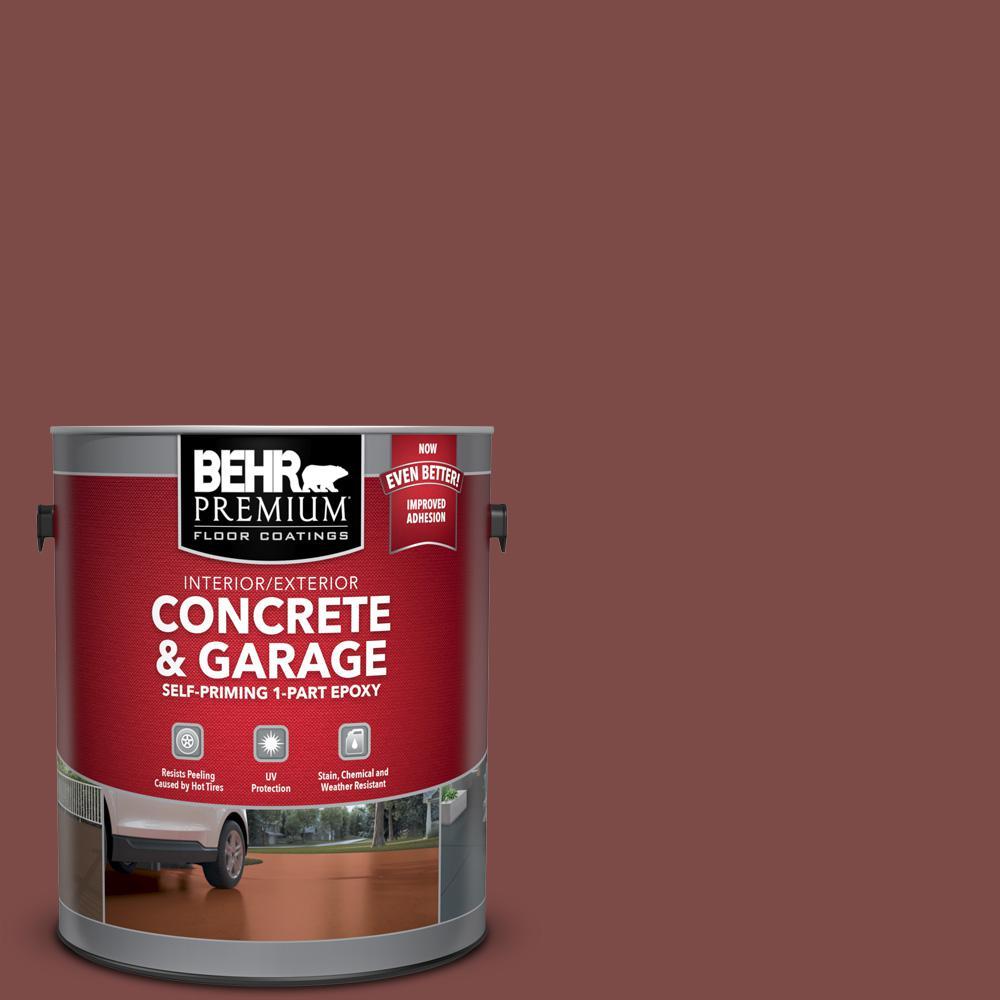 BEHR Premium 1 gal. #SC-118 Terra Cotta Self-Priming 1-Part Epoxy Satin Interior/Exterior Concrete and Garage Floor Paint