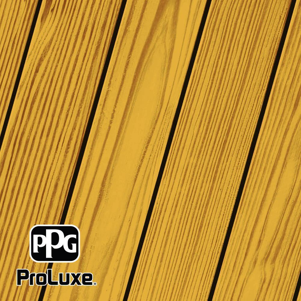 PPG ProLuxe 1 gal. Natural Oak RE SRD Exterior Transparent Matte Wood Finish