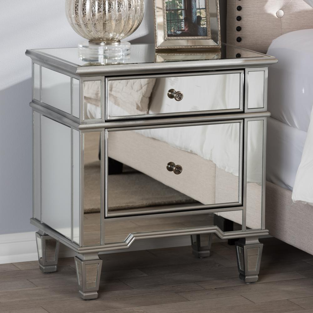 Mirrored Nightstand Home Depot