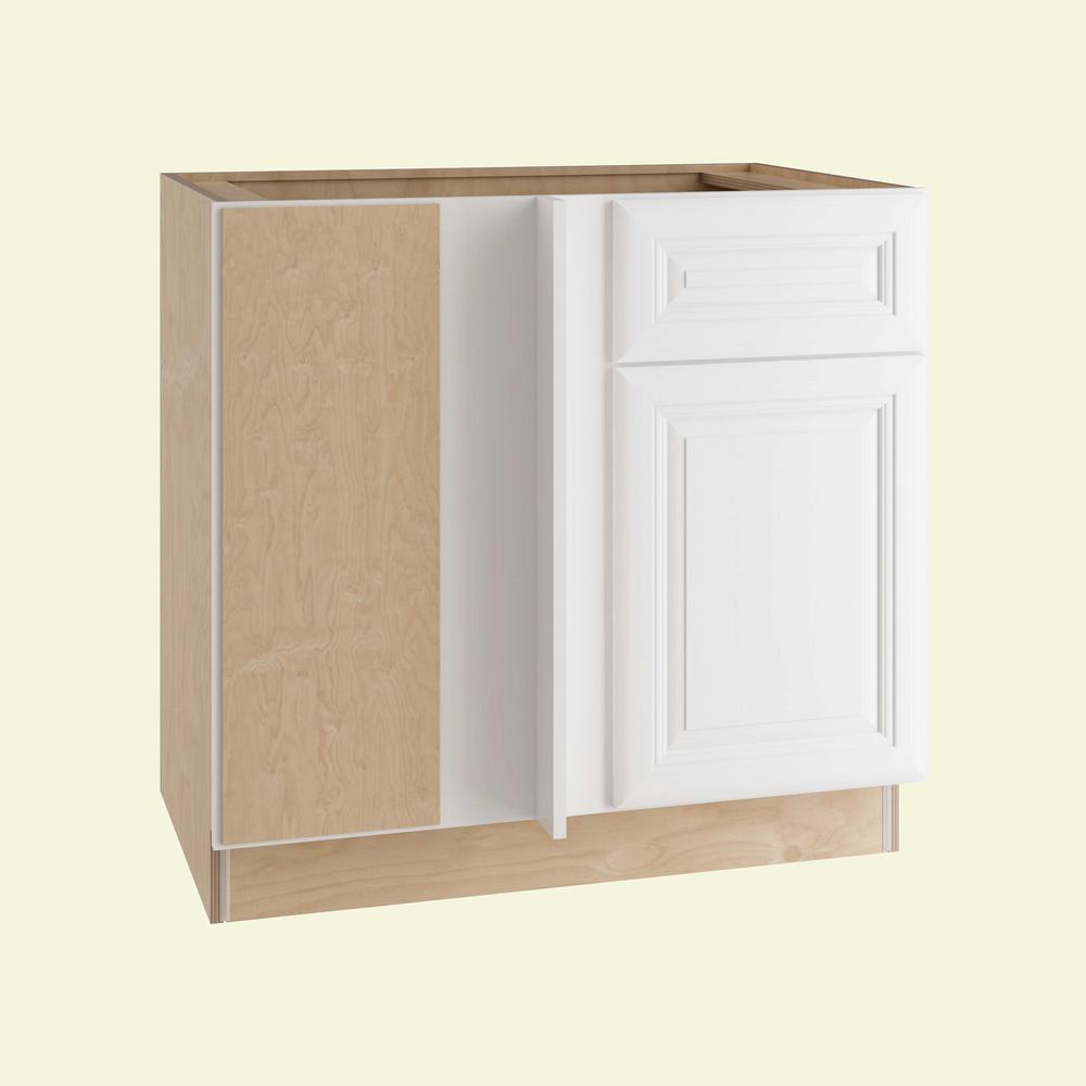 Brookfield Assembled 36x34.5x24 in. Single Door and Drawer Hinge Left Base