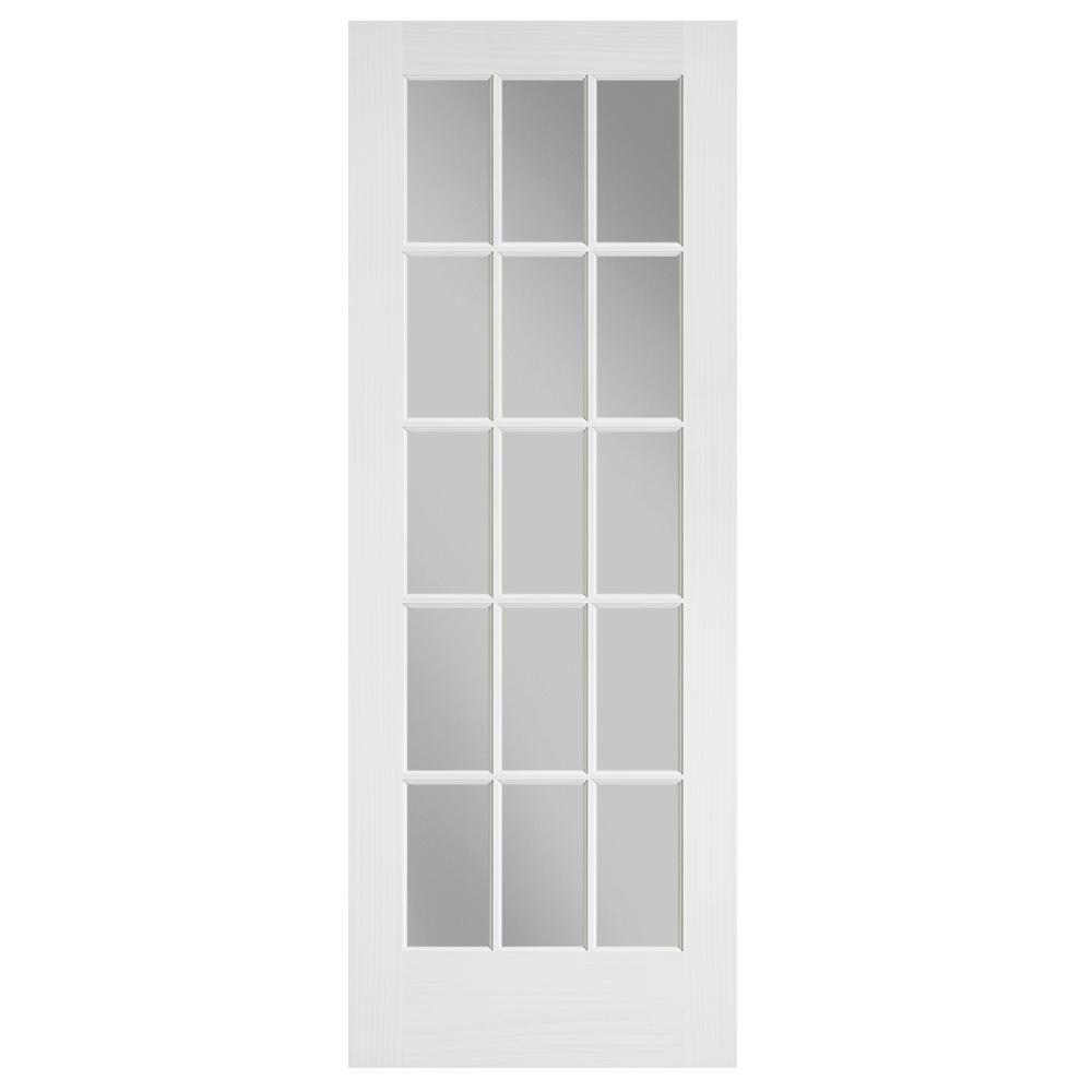 Masonite 24 In X 80 In Primed 15 Lite Solid Core Pine Interior Door Slab