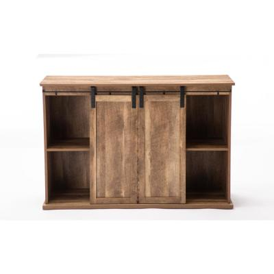Weston 47 in. Natural Wood TV Stand Fits TVs Up to 50 in. with Storage Doors
