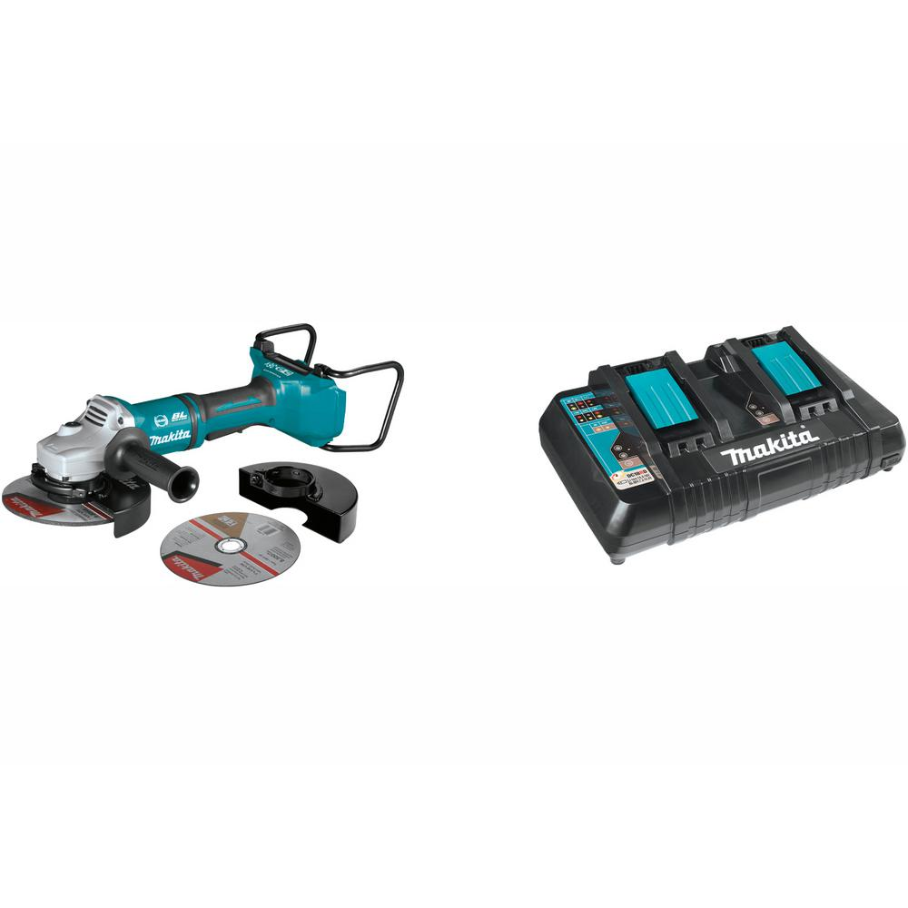 "Makita XAG12Z1 18V X2 LXT Lith-Ion 36V Brushless  7/"" Paddle switch angle grinder"