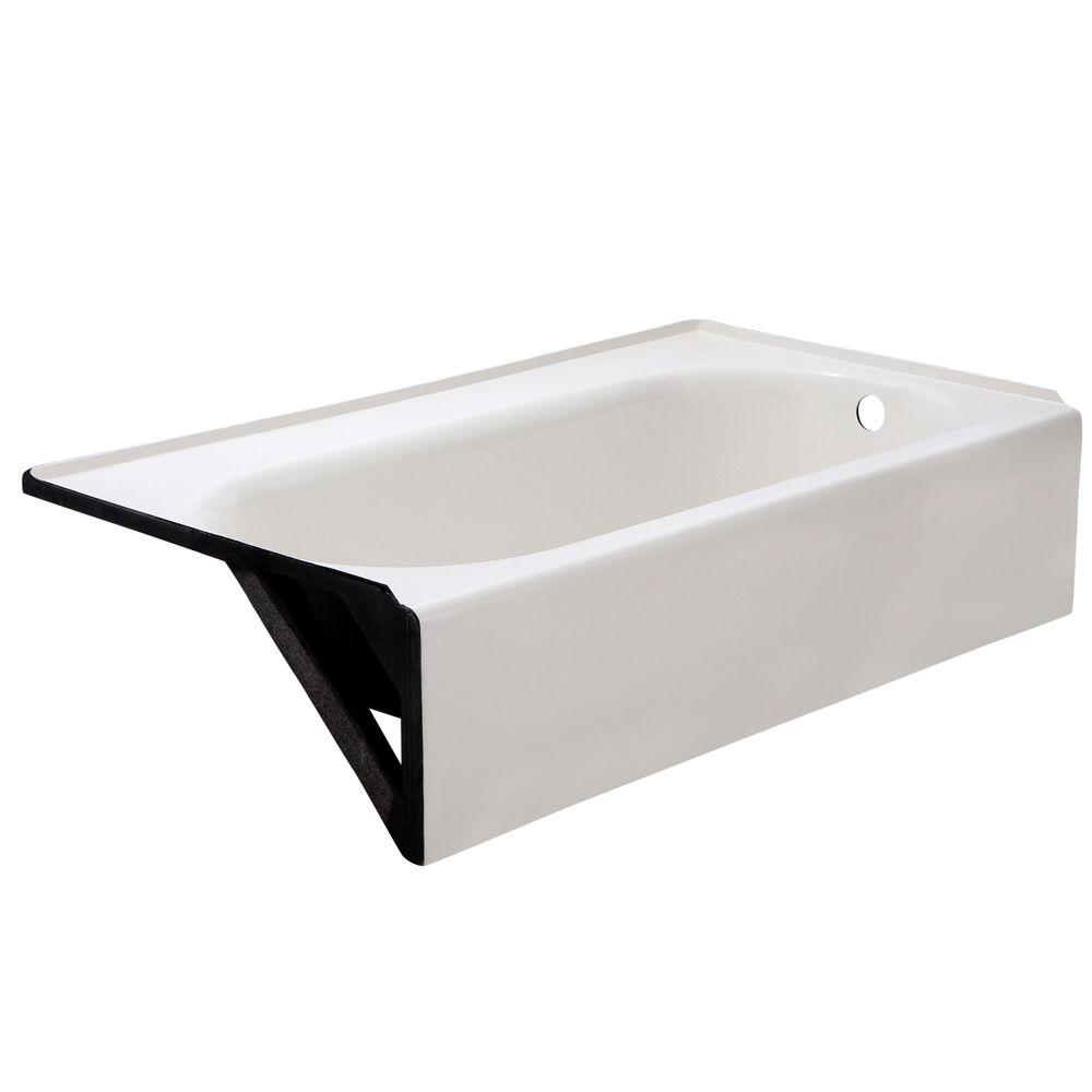 american standard princeton luxury ledge 5 ft americast right hand drain bathtub in white 2395. Black Bedroom Furniture Sets. Home Design Ideas