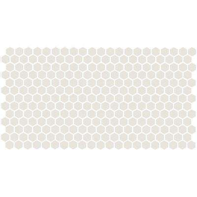 Keystones Unglazed Arctic White 12 in. x 24 in. x 6 mm Porcelain Hexagon Mosaic Floor and Wall Tile (21 sq. ft. / case)