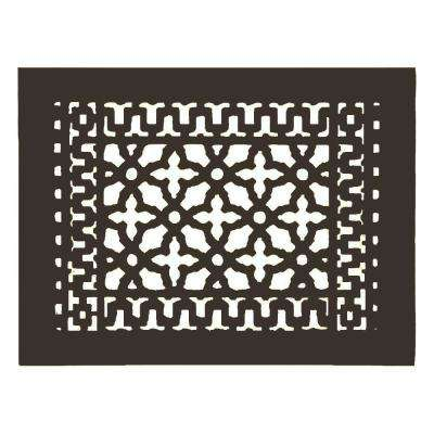 Scroll 14 in. x 10 in. Aluminum Grille without Mounting Holes, Oil Rubbed Bronze
