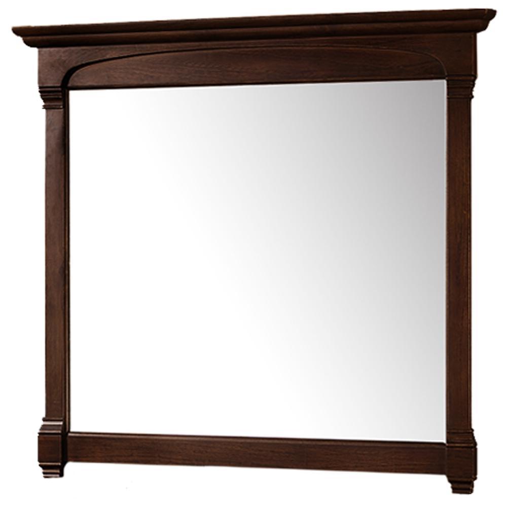 Andover 44 in. W x 41 in. H Framed Rectangular Bathroom Vanity Mirror in Dark Cherry