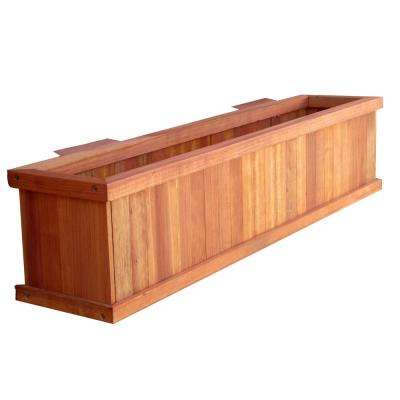 Summer 8.5 in. x 8.5 in. x 24 in. 1905 Super Deck Finished Redwood Window Planter Box