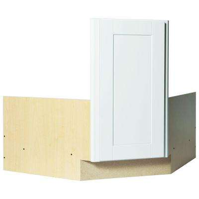 Shaker Ready To Assemble 36 X 34 5 X 24 In Corner Sink Base Kitchen Cabinet In Satin White