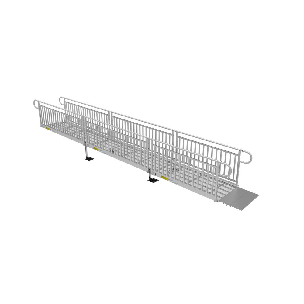 22 ft  expanded metal ramp kit with vertical pickets-p3g sem22vp