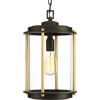Laine Collection Architectural Bronze 1-Light Outdoor Hanging Lantern
