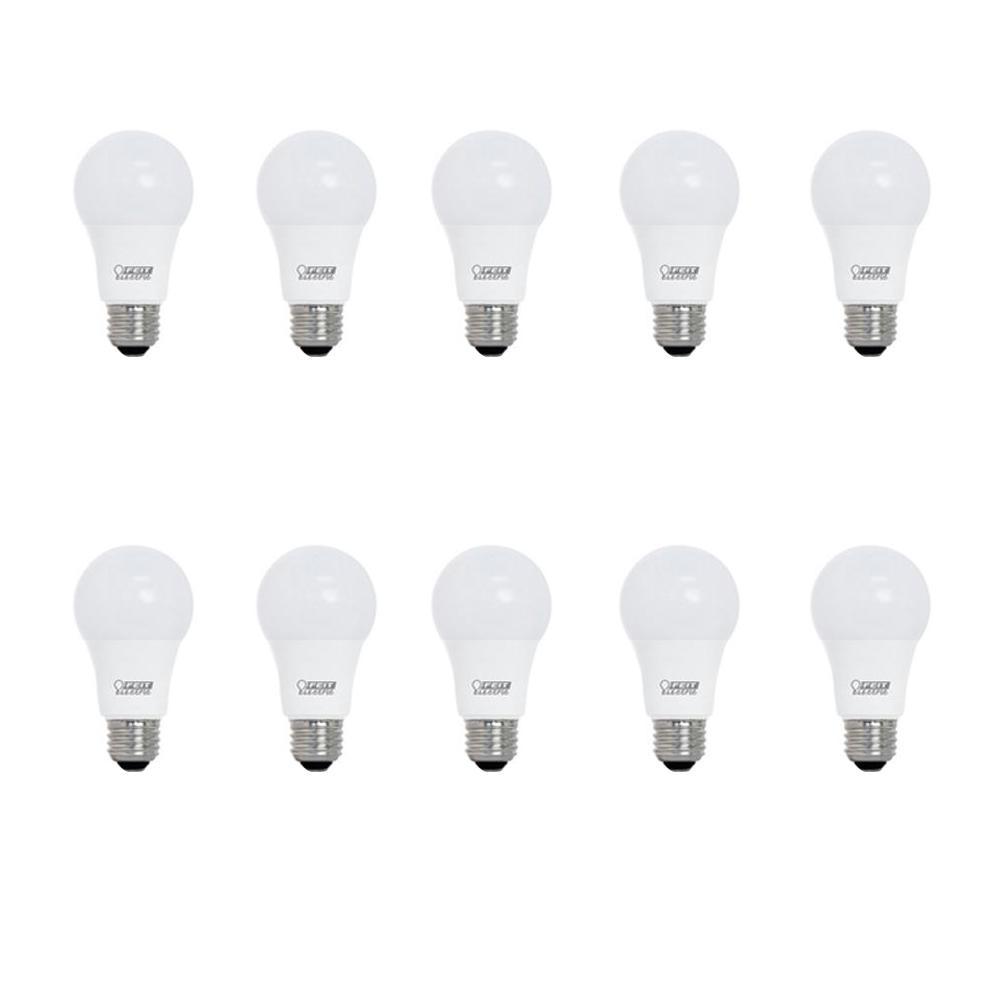 60-Watt Equivalent A19 CEC Title 24 LED Energy Star 90+ CRI Flood Light Bulb, Warm White (10-Pack)