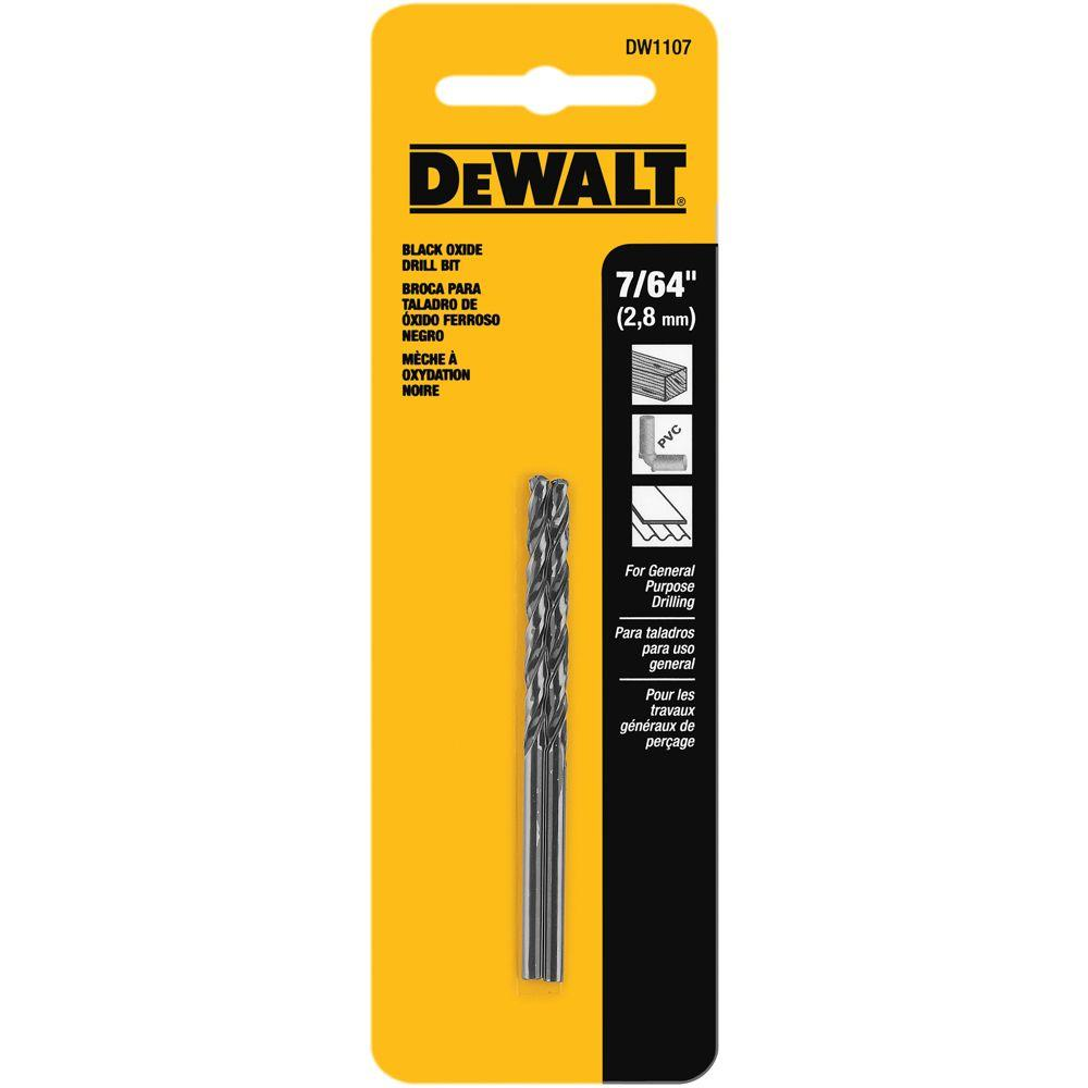 7/64 in. Black Oxide Split Point Drill Bit (2-Pack)