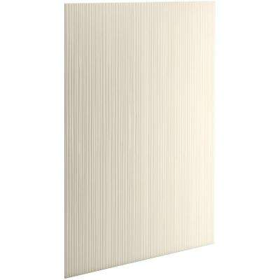 Choreograph 0.3125 in. x 60 in. x 96 in. 1-Piece Shower Wall Panel in Almond with Cord Texture for 96 in. Showers