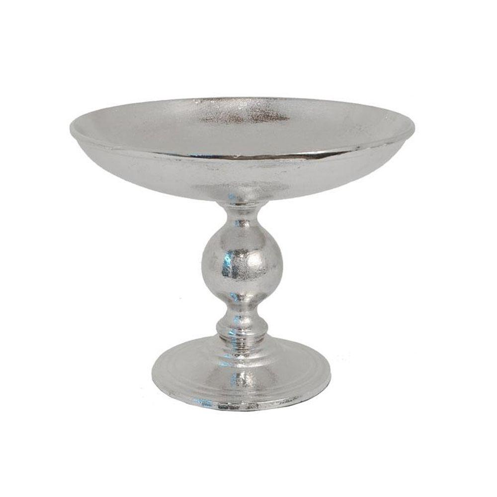 Home Decorators Collection 11 in. W Kendall Silver Footed Bowl