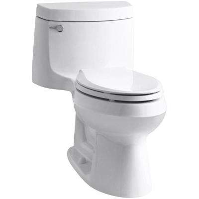 Cimarron 1-piece 1.28 GPF Single Flush Elongated Toilet with AquaPiston Flush Technology in White, Seat Included