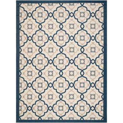 Martha Stewart Azurite 8 ft. x 11 ft. Indoor/Outdoor Area Rug