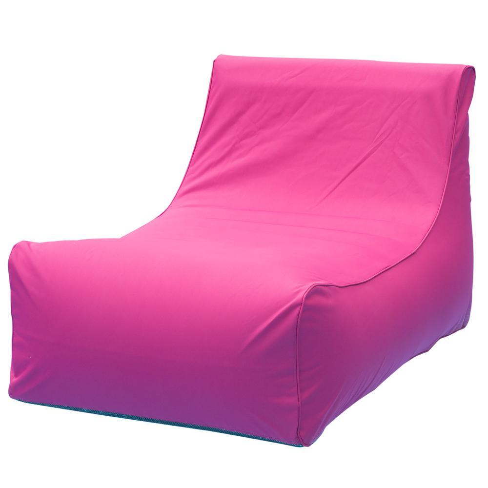 Ocean Blue Aruba Inflatable Lounge Chair In Fuchsia