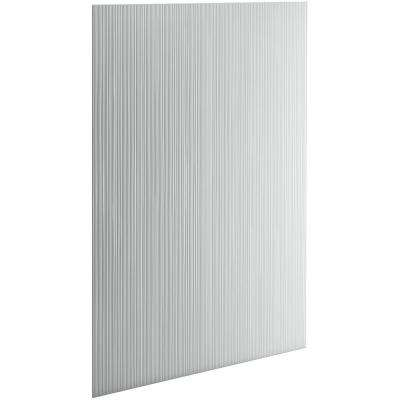 Choreograph 0.3125 in. x 60 in. x 96 in. 1-Piece Shower Wall Panel in Ice Grey with Cord Texture for 96 in. Showers
