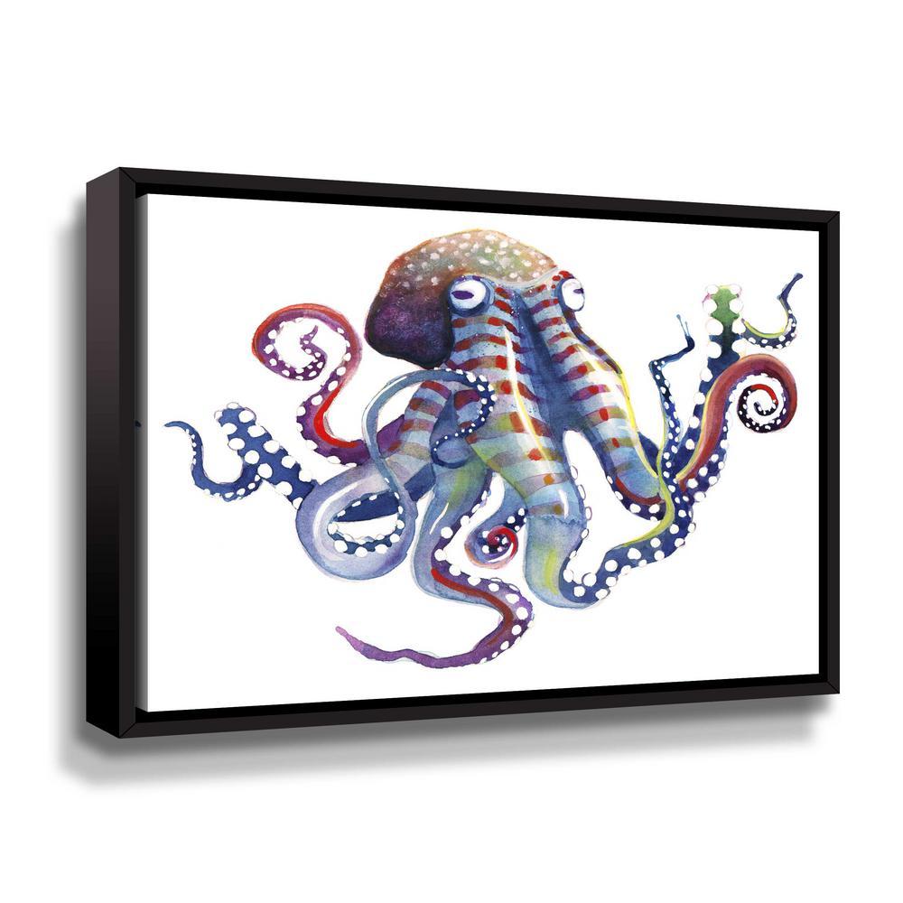 'Octopus' by  Sam nagel Framed Canvas Wall Art