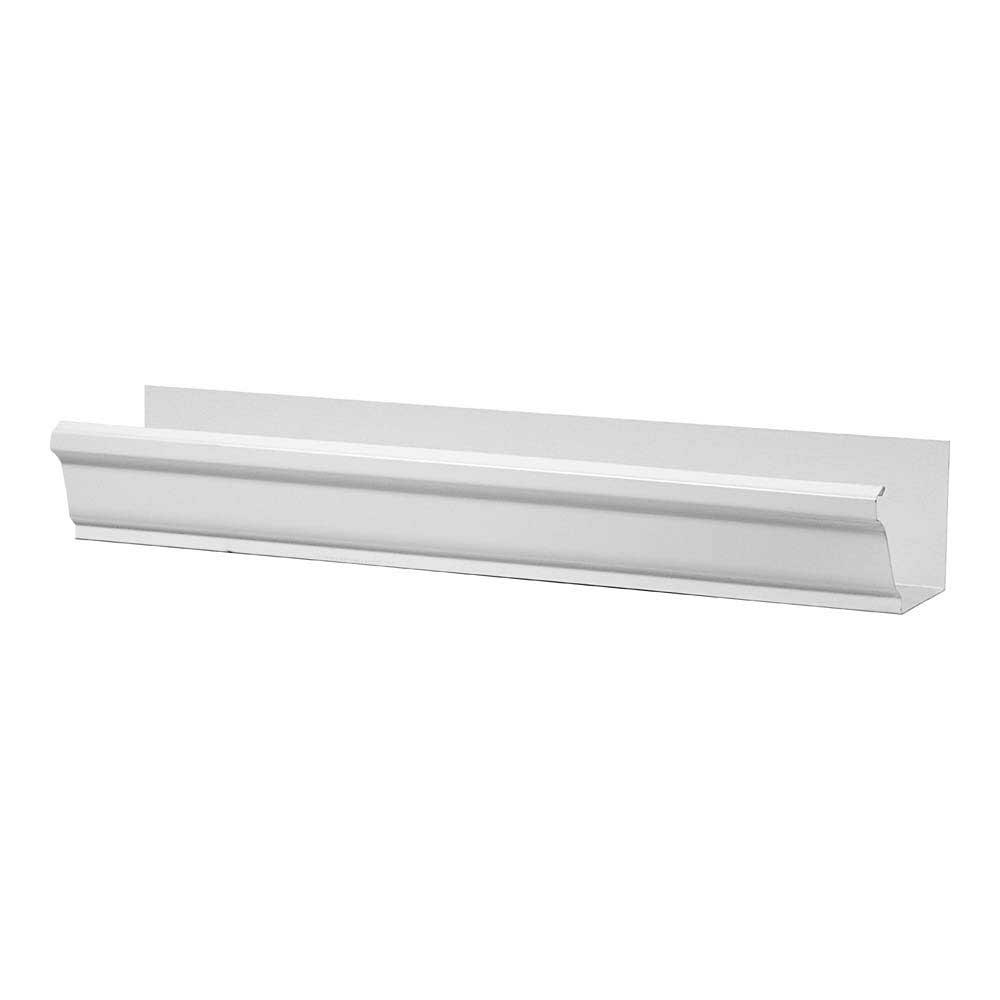 Gibraltar Building Products 4 in. White K-Style Steel Gutter