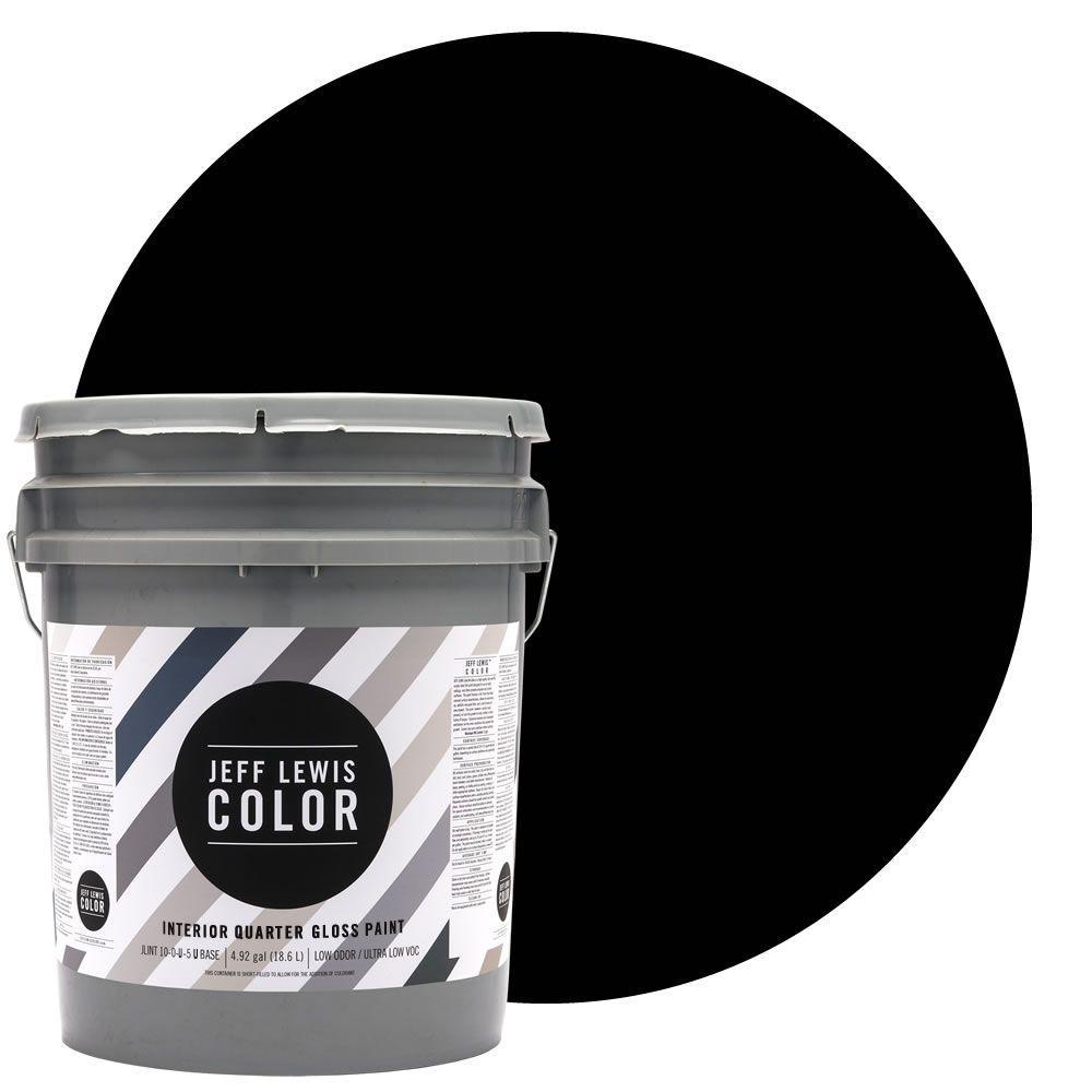 Jeff Lewis Color 5-gal. #JLC417 Knight Quarter-Gloss Ultra-Low VOC Interior Paint