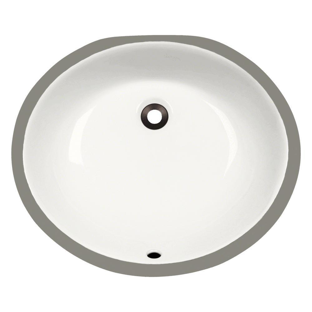 Undermount Porcelain Bathroom Sink in Bisque