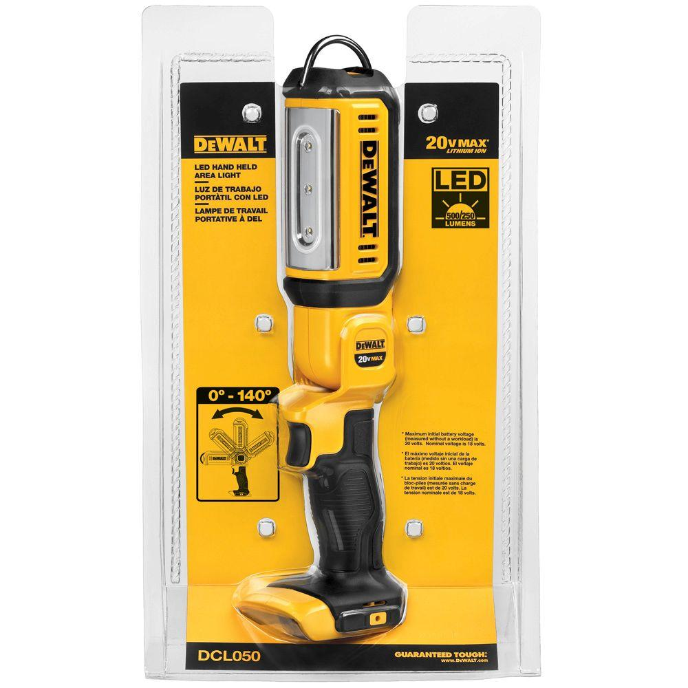20 Volt MAX Lithium Ion Cordless LED Hand Held Area Light (Tool