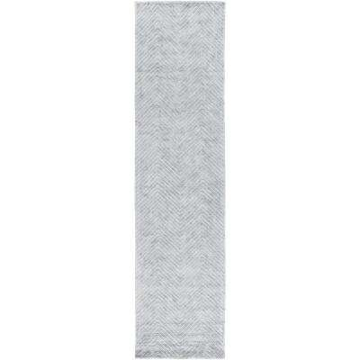 Beires Pale Blue 3 ft. x 10 ft. Runner Rug