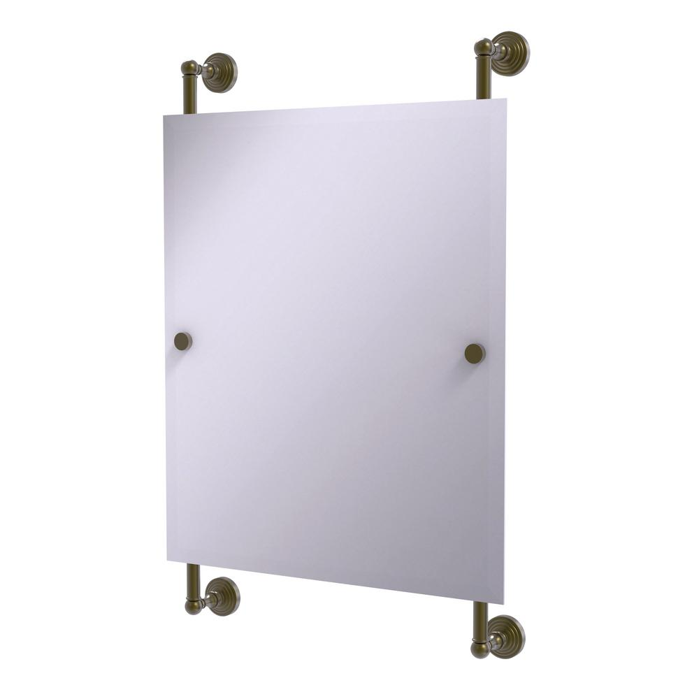 Allied Brass Waverly Place Collection 21 In X 33 Rectangular Frameless Rail Mounted