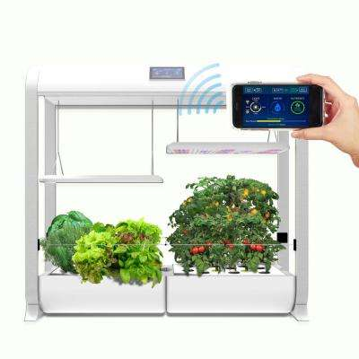 AeroGarden Farm Plus Hydroponic Indoor Garden in White