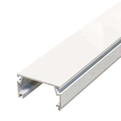 1 in. x 2 in. x 8 ft. White Fast Track Channel