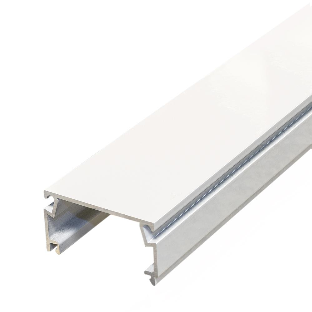 Screen Tight 1 in. x 2 in. x 8 ft. White Fast Track Channel-FT128W ...