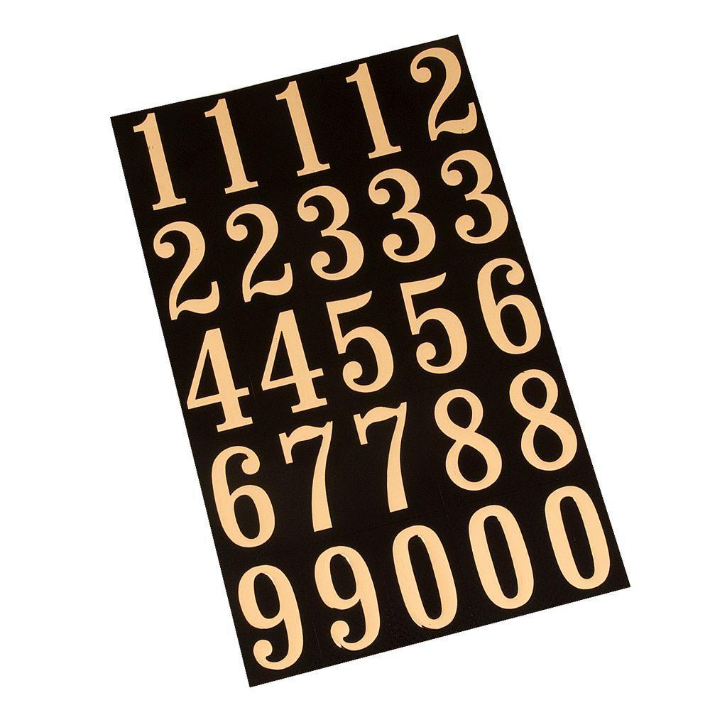 Hy-Ko Products MM-5N Self Adhesive Vinyl Numbers 3 High 26 Pieces 3 Black /& Gold
