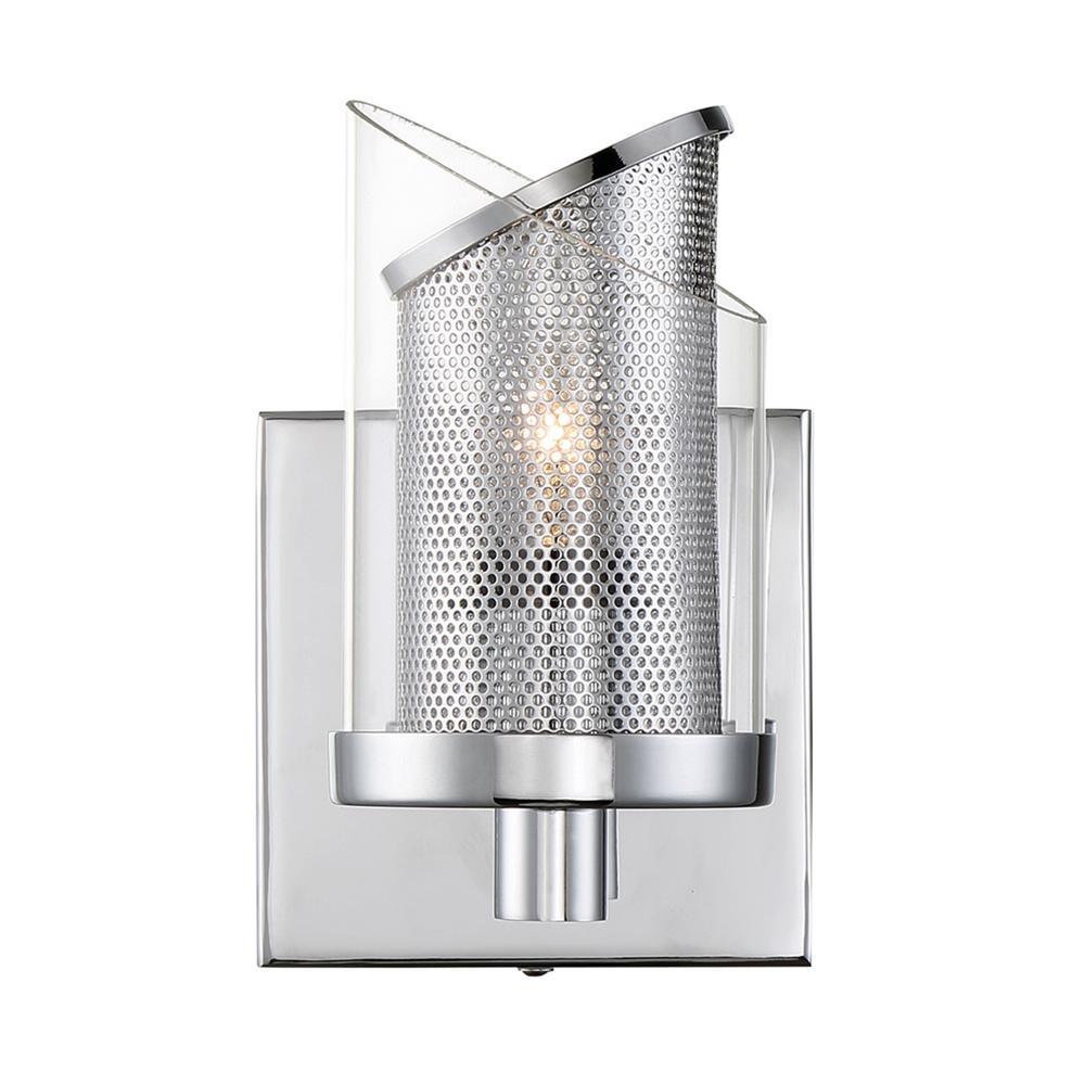 So Inclined 1-Light Chrome Bath Light
