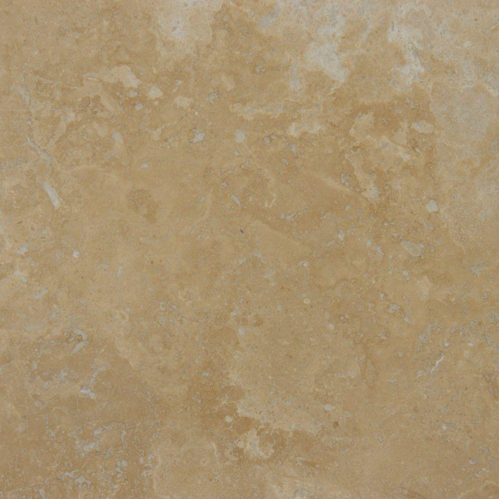 18x18 travertine tile flooring the home depot honed travertine floor and wall tile dailygadgetfo Gallery