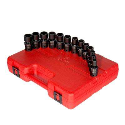 1/2 in. Drive Metric Universal Impact Socket Set (13-Piece)